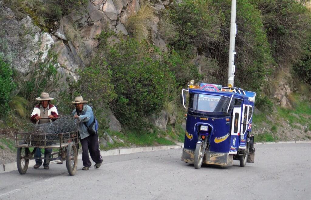 Tuk Tuk and cart in Peru
