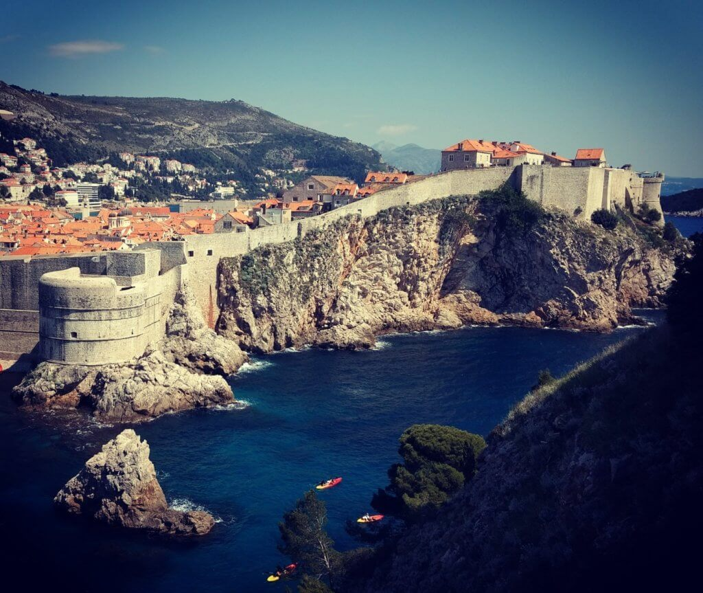 View of the Dubrovnik city walls Croatia