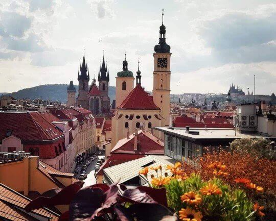Rooftop bars in Prague View