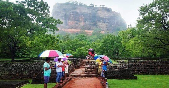 Sigiriya Lion Rock rainy season in Sri lanka