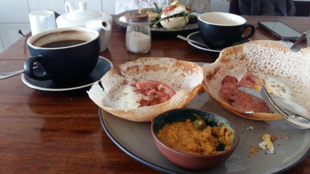Egg and Bacon Hoppers Sri Lanka