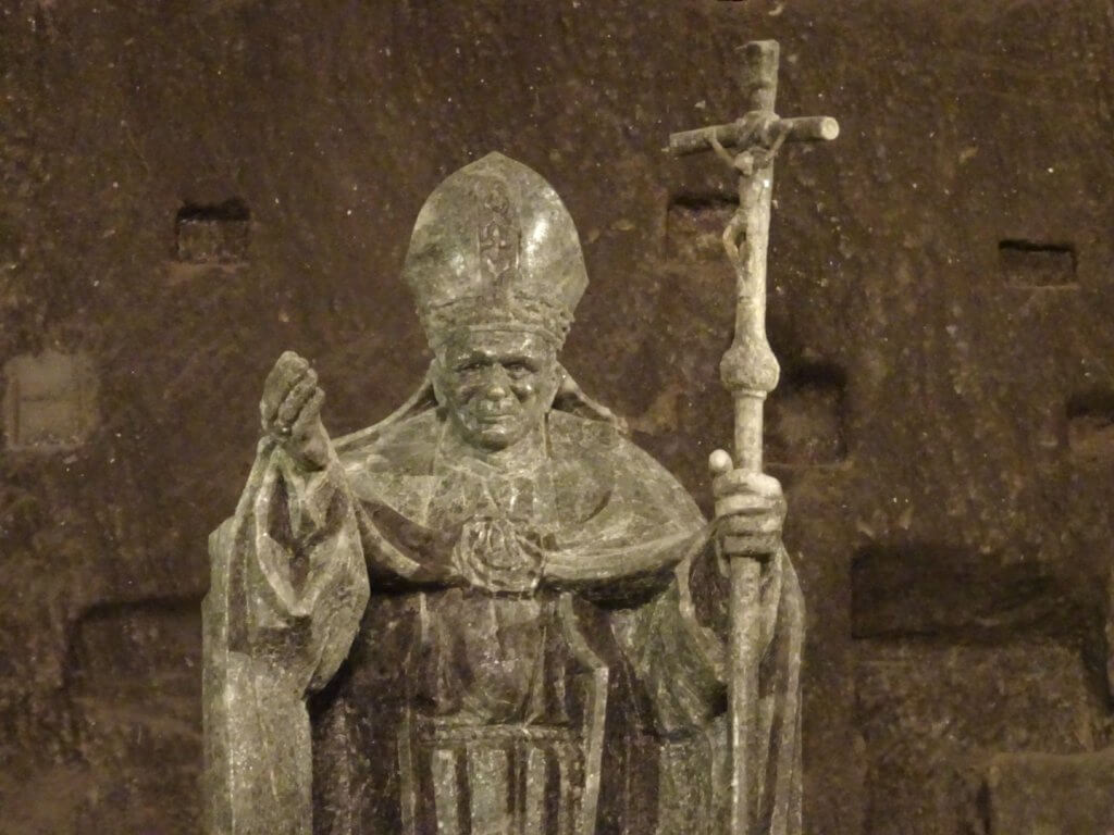 Pope John Paul II in salt