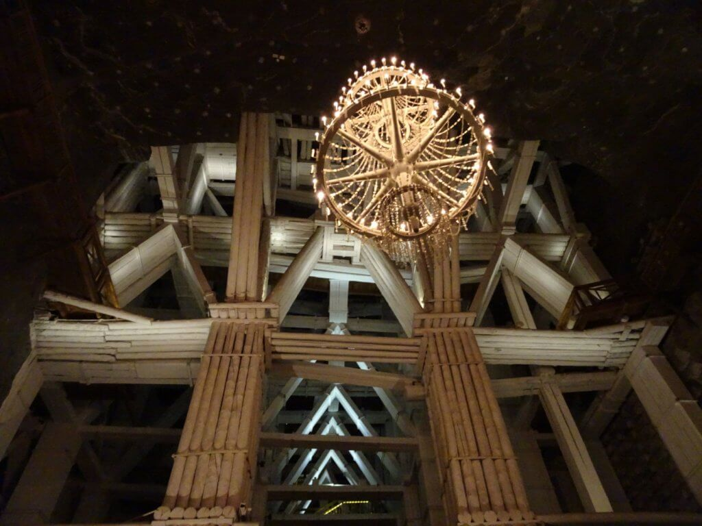 Krakow salt mine chandelier