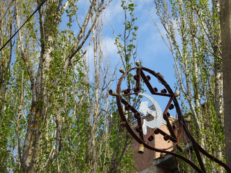 Abandoned soviet mural Pripyat