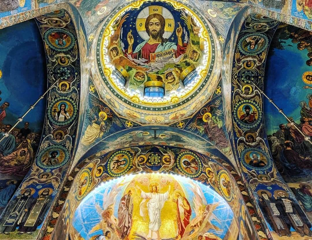 Church of the Saviour on the Spilled Blood Mosaic roof