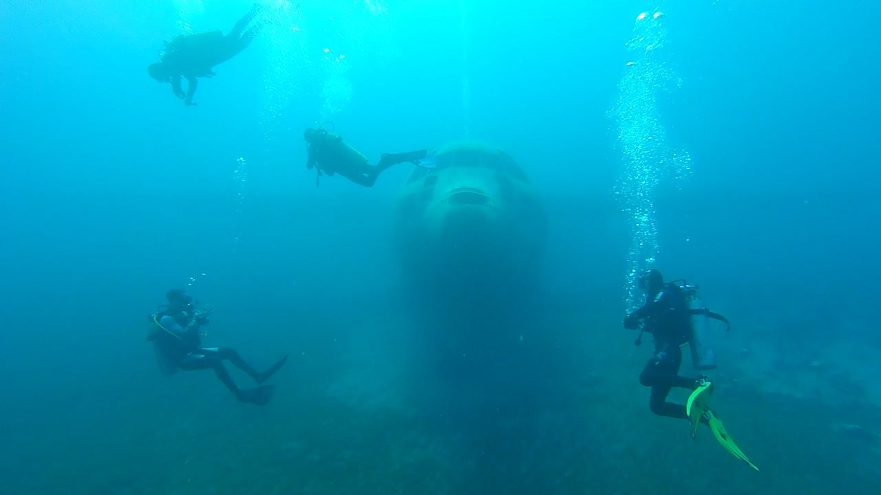 Aqaba scuba diving airplane dive plane Red Sea