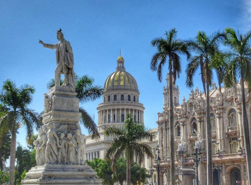 Street Capitol Havana Cuba Budget Backpacker
