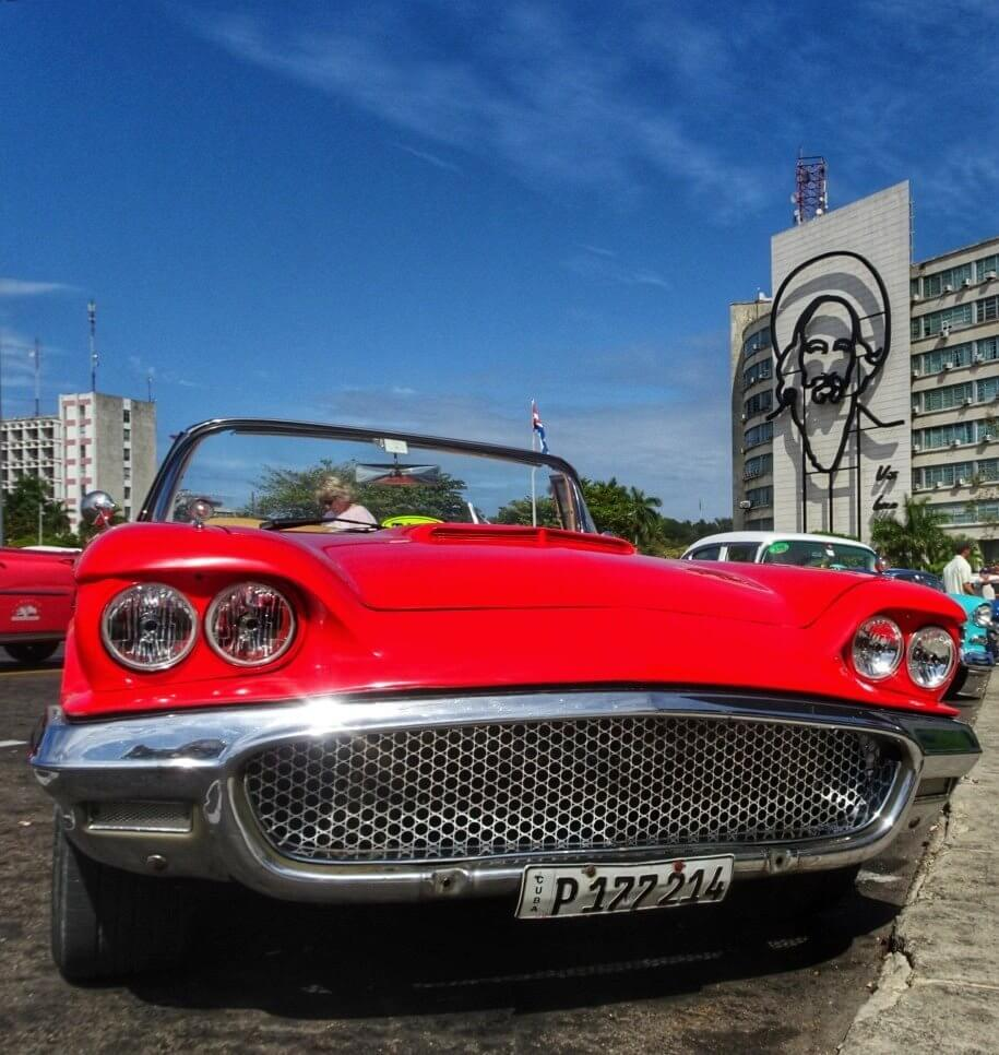 Thunderbird Car Classic Car Havana Cuba things to do in Havana