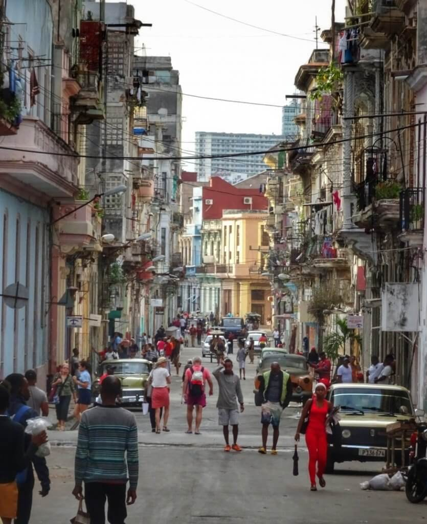 Street Car Havana Cuba Scene