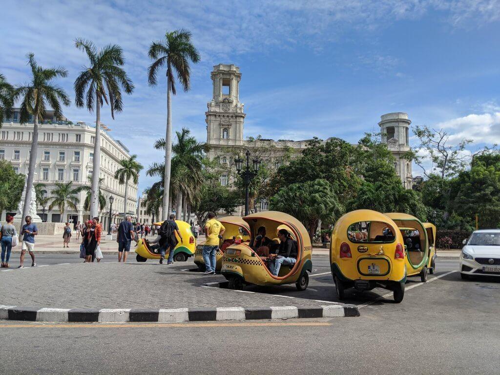 Street Coco Taxi Havana Classic Cuba Backpacker Budget