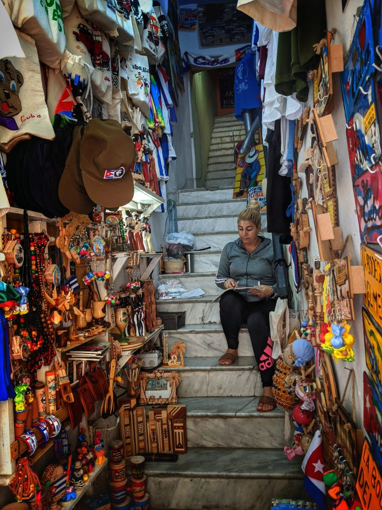 Street seller shop Havana Cuba